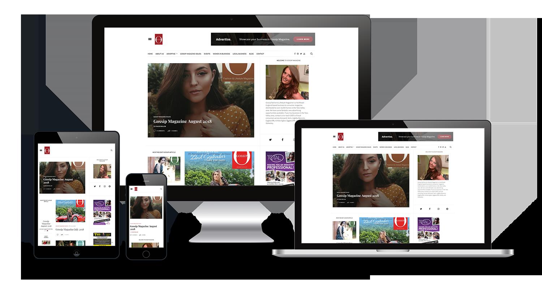 Gossip Magazine Website Build by Inner City Digital