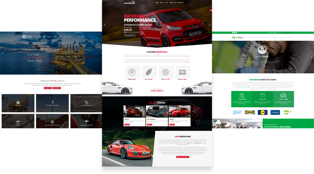 Flat images of our web design projects